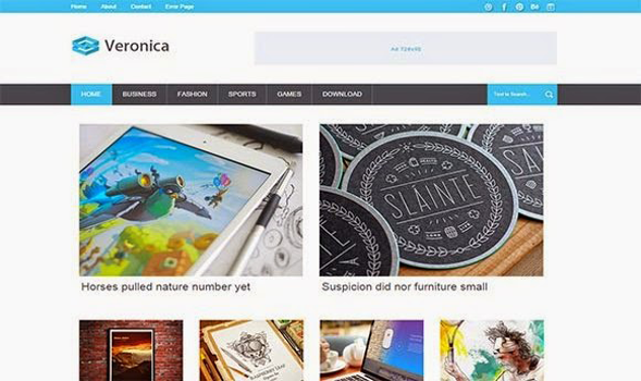 Veronica Responsive Blogger Template