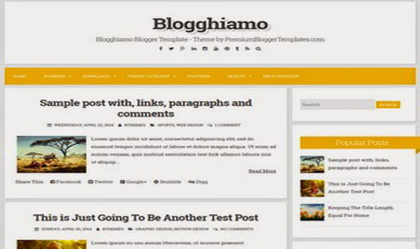 Blogghiamo Minimal Blogger Template