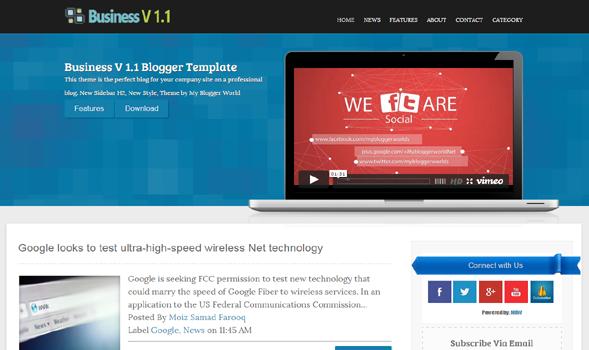 Business V 1.1 Responsive Blogger Template