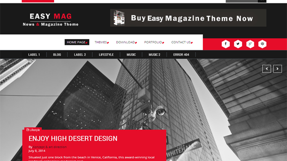 Easy-Mag-Blogger-Template