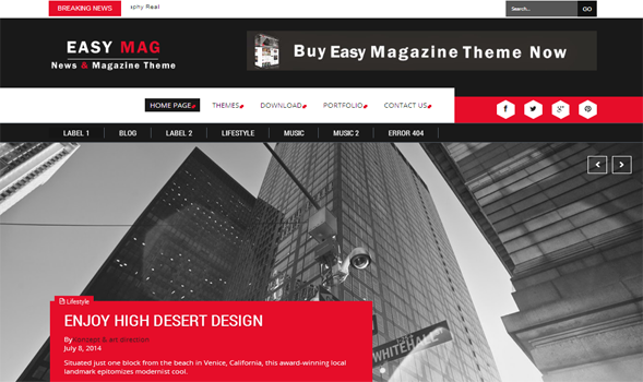 Easy Mag Responsive Blogger Template