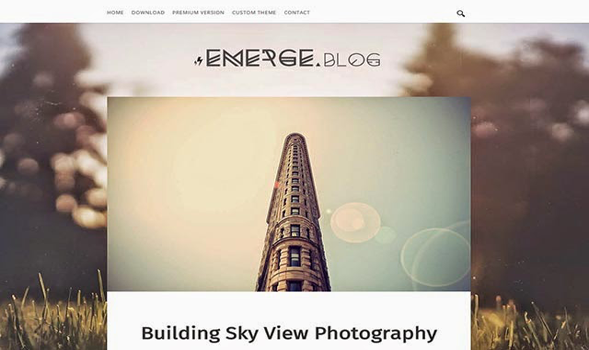 Emerge Personal Blogger Template