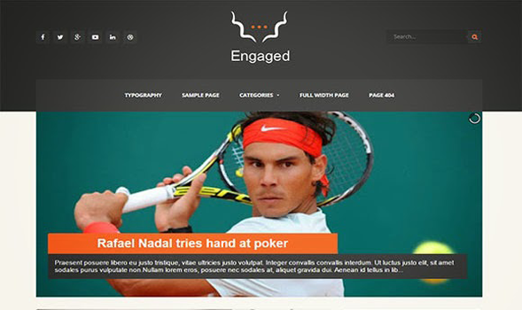 Engaged Responsive Blogger Template