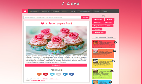 I Love Responsive Blogger Template