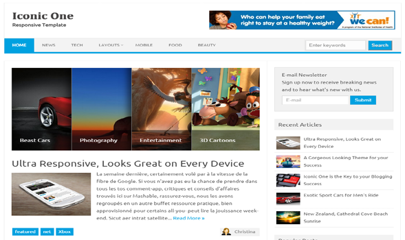 Iconic One Responsive Blogger Template