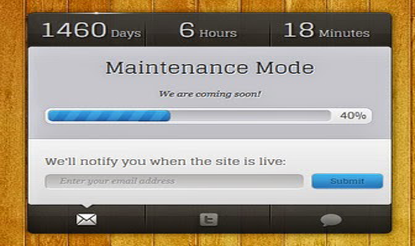 Maintenance Mode Responsive Blogger Template