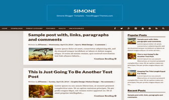 Simone Responsive Blogger Template