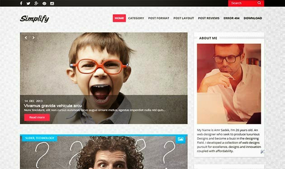 Simplify Clean Blogger Template