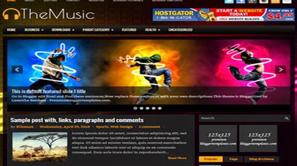 The-Music-Blogger-Template