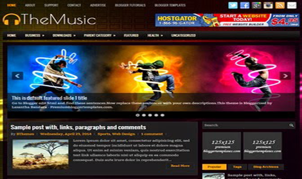 The Music Blogger Template