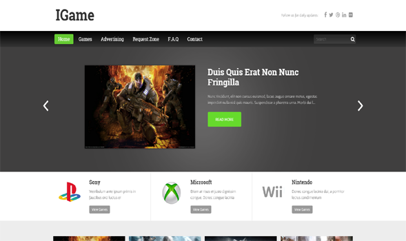 iGame Minimal Blogger Template