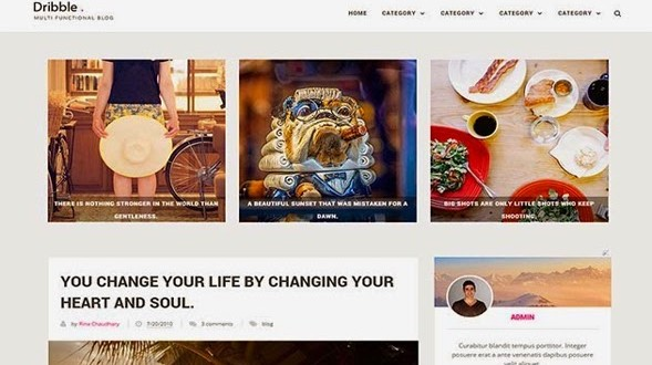 Dribble-Blogger-Template
