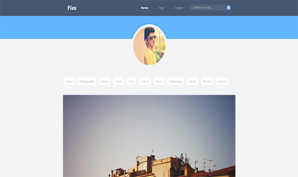 Flex Clean Blogger Template