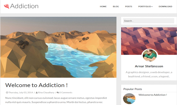 Addiction Responsive Blogger Template