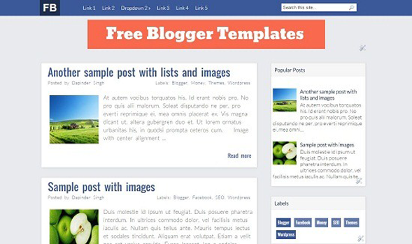 Facebook-Blogger-Template