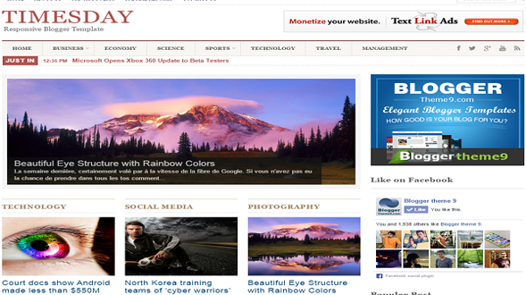 TimesDay-Responsive-Blogger-Template