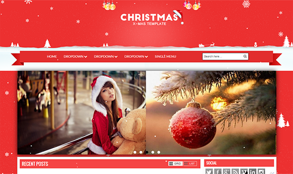 Christmas-Responsive-Blogger-Template