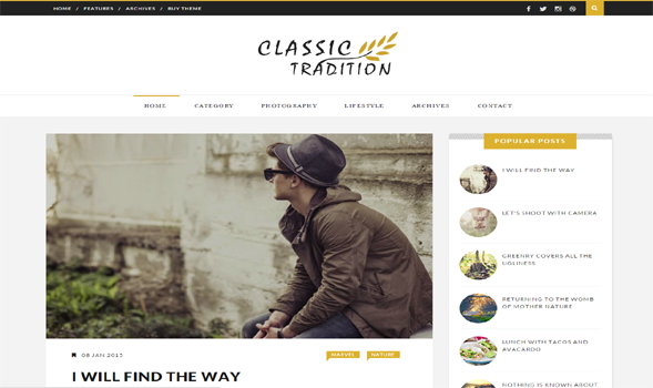 Classic-Travel-Blogger-Template
