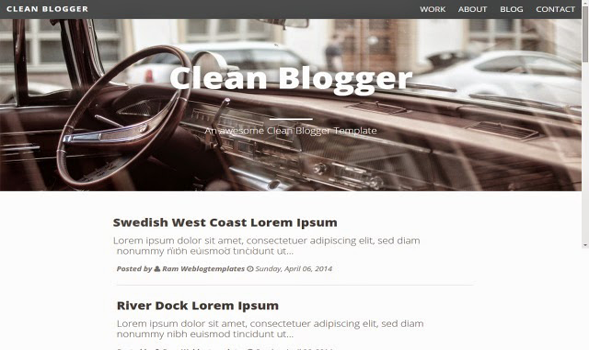 Clean-Personal-Blogger-Template