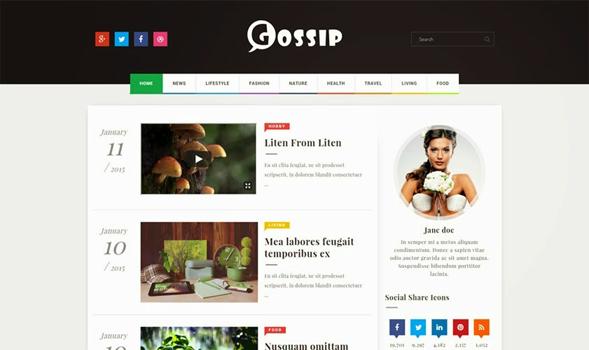 Gossip-Responsive-Blogger-Template