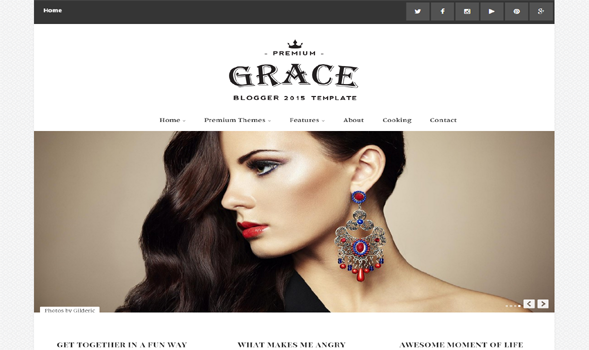 Grace-Responsive-Blogger-Template
