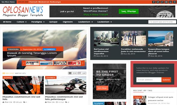 Oplosan-News-Blogger-Template