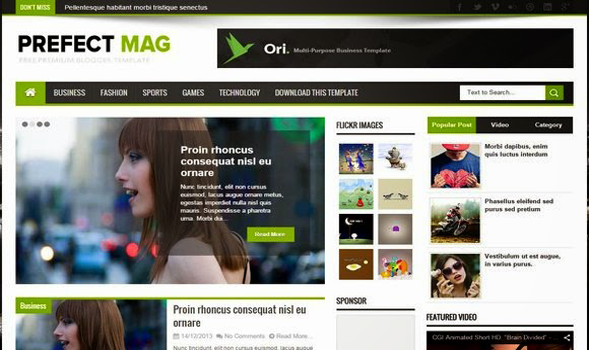 Perfect-Mag-Blogger-Template