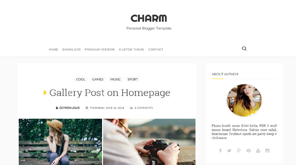 Charm-Blogger-Template1