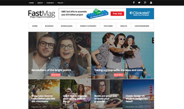 Fast-Mag-Blogger-Template