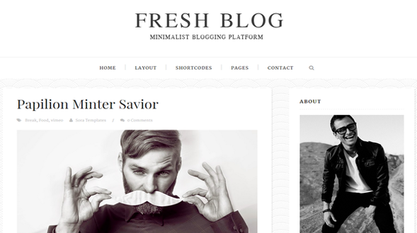 Fresh-Blog-Blogger-Template