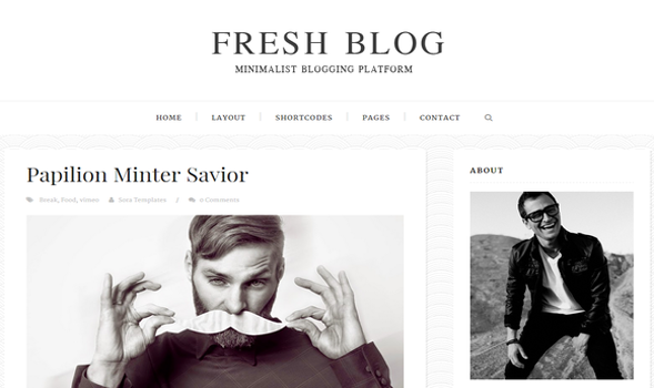 Fresh-Blog-Blogger-Template
