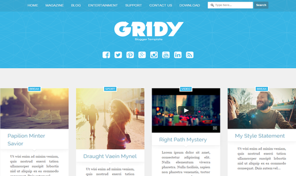 Gridy-Responsive-Blogger-Template