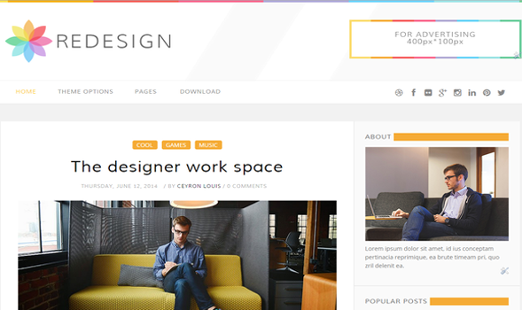 Redesign blogger template for Redesign your office
