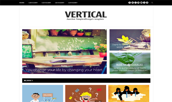 Simplex-Vertical-Blogger-Template