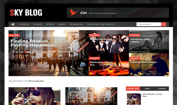 Sky-Blog-Blogger-Template