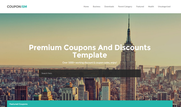 Couponism blogger template blogspot templates 2018 couponism blogger template wajeb Images