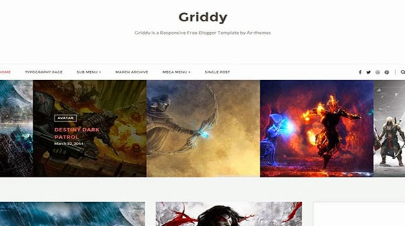 Griddy-Blogger-Template