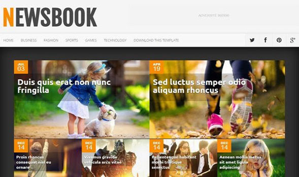 NewsBook-Blogger-Template