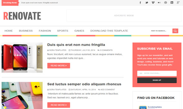 Renovate-Blogger-Template