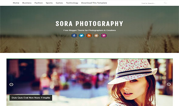 Sora-Photography-Blogger-Template