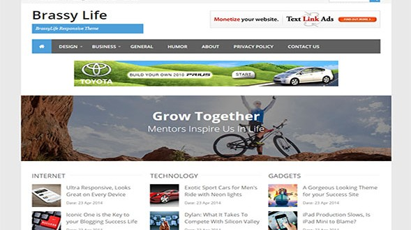 BrassyLife-Blogger-Template