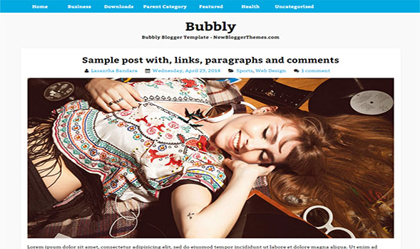 Bubbly-Blogger-Template