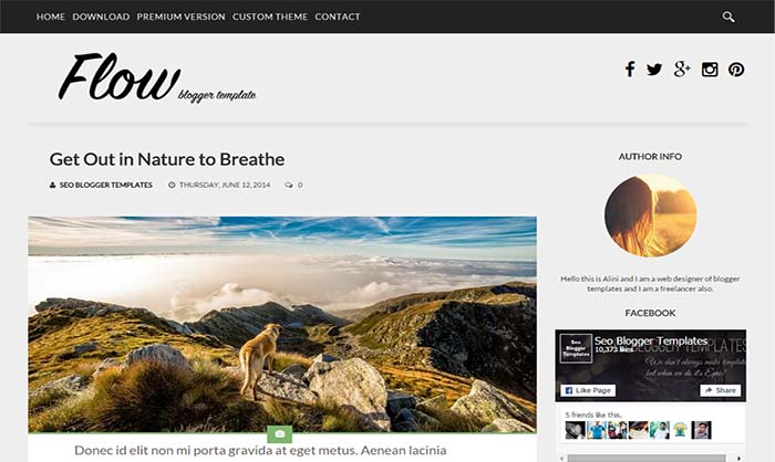 Flow-Responsive-Blogger-Template