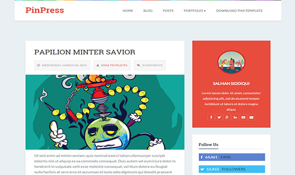 PinPress-Blogger-Template