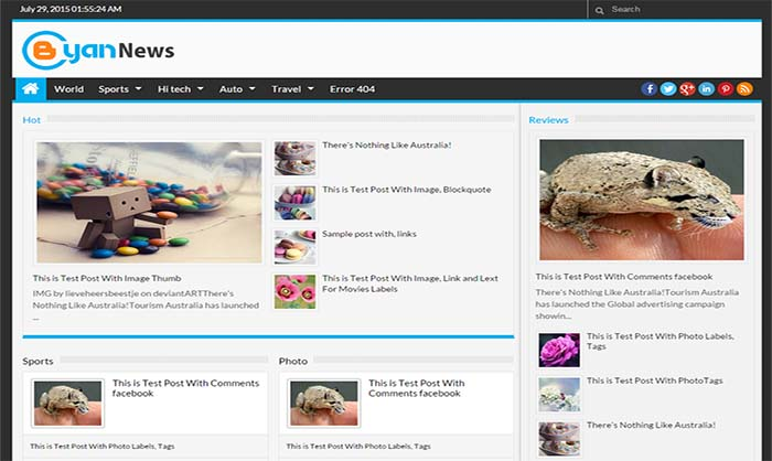 Bcyan-News-Blogger-Template