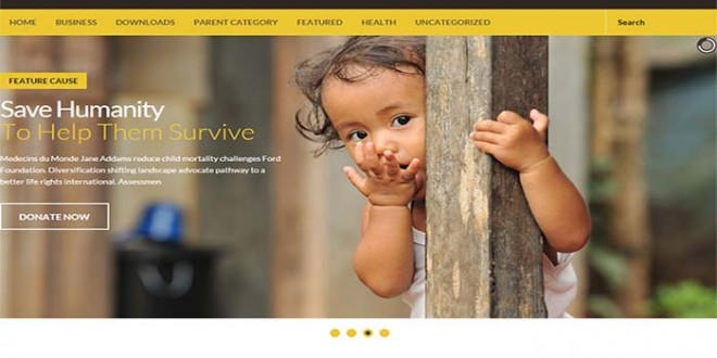 Charity-Mag-Blogger-Template