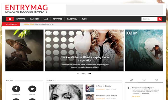 Entry-Mag-Blogger-Template