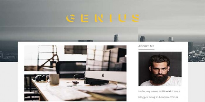Genius-Blogger-Template