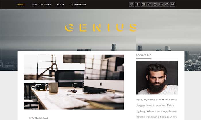 Genius-Responsive-Blogger-Template
