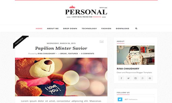 Personal-Blogger-Template